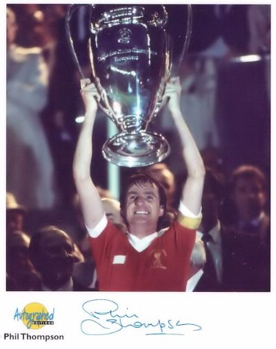 Phil Thompson Autograph Signed Photo - Liverpool